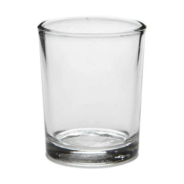 Glas-Teelicht 5,5x6,5cm, 4 Stück