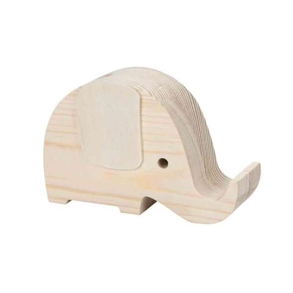 Stiftehalter Elefant aus Holz 130 x 38 x 80mm
