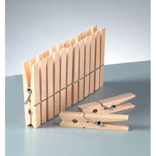 Holzklammern, Wäscheklammer roh 72 x 10 mm 50 Stück