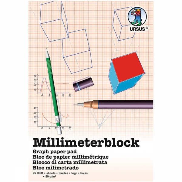 Milimeterblock 80g/m² DIN A3, 25 Blatt
