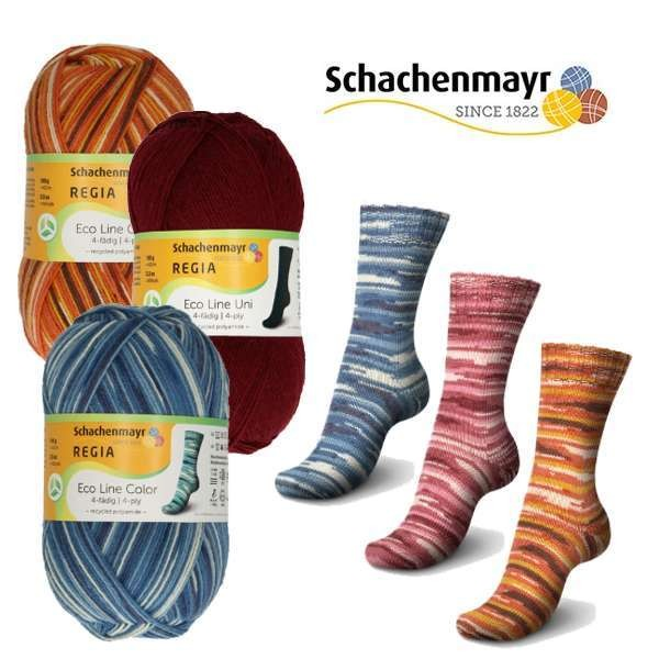 Regia Sockenwolle 100g  4-Fädig Eco Line Color Fb 02004 air color