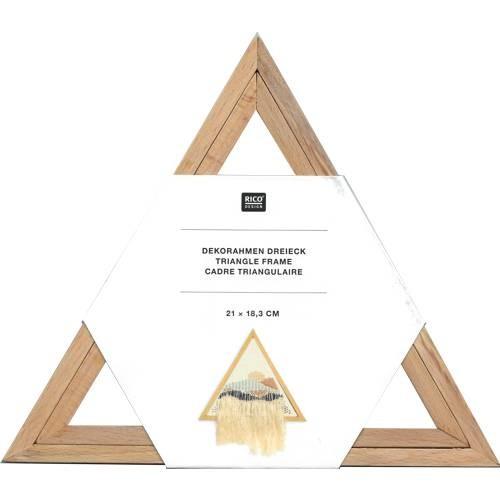 Holz-Dekorahmen Dreieck, 210 x 183 mm, 2-teilig