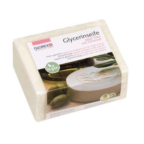 Glycerinseife, Rohseife weiß opak mit Olivenöl