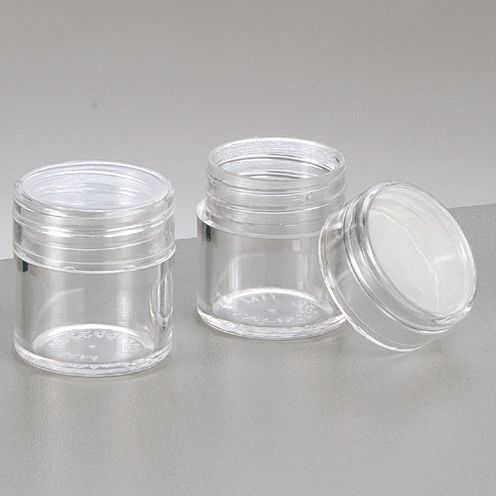 Kunststoffdose ø 2,5 cm x 2,8 cm glaskla, rund 10 Stk.