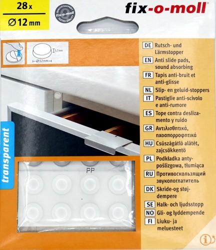 Rutsch- und Lärmstopper 28x Ø12mm Transparent