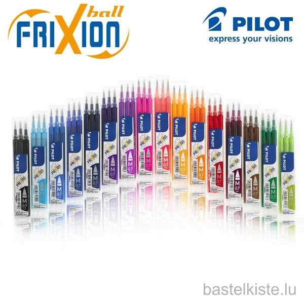 FriXion Ball 0.7 (M) Tintenrollerminen, Ersatzminen 3er Set