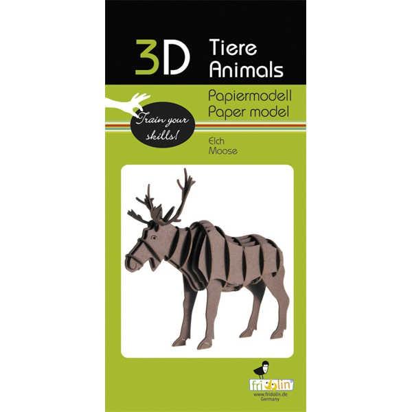"3D Papiermodell ""Elch"" zum zusammenbauen"