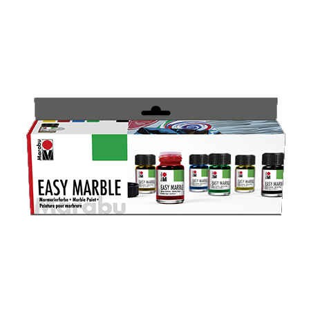Easy Marble, Marmorierfarbe 6 x 15ml SET