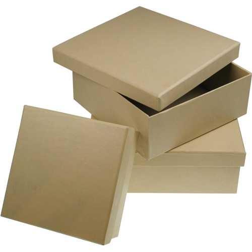 PappArt Pappdose Quadratisch Ø 65mm bis Ø 220mm