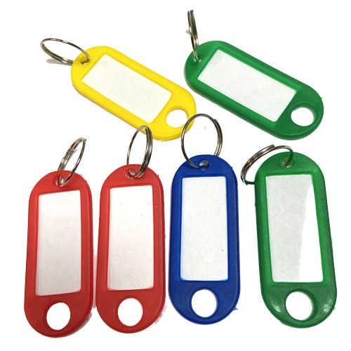 Schlüsselanhänger farblich sortiert, 6 Stück