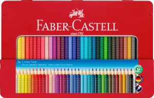 Colour Grip, 36er Set im Metalletui - Wasservermalbare Buntstifte