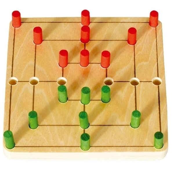 """Mini Game """"MÜHLE"""" 9 x 9 cm"""