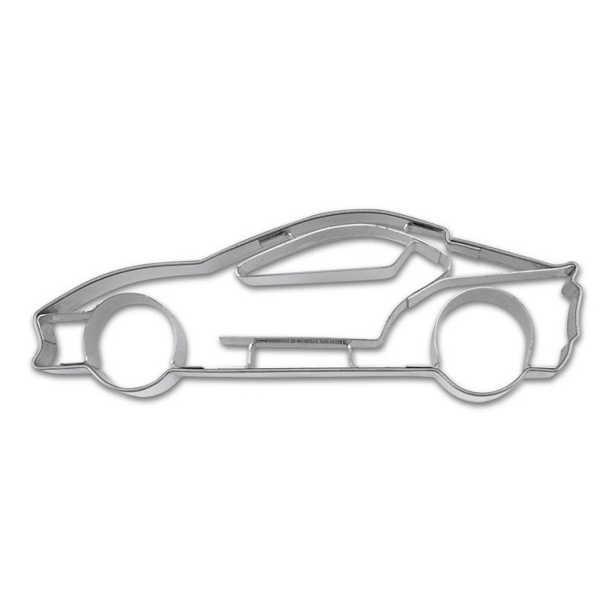 Präge-Ausstechform Sportwagen 8,5 cm aus Edelstahl