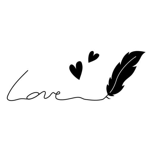"""Holzstempel mit Silikonstempel """"Love"""""""