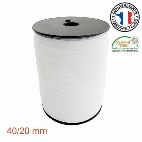 Schrägband 40/20 Meterware Zuschnitt weiß