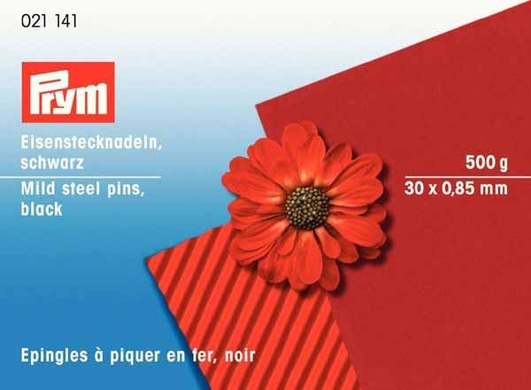 PRYM Eisenstecknadeln 30 x 0,85mm, schwarz, 500g