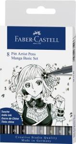 Pitt Artist Pen Tuschestifte 8er Manga Set