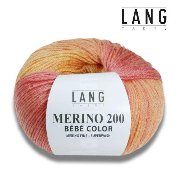 Lang Yarns Merino 200 Bébé Color 50g wollzauber.com