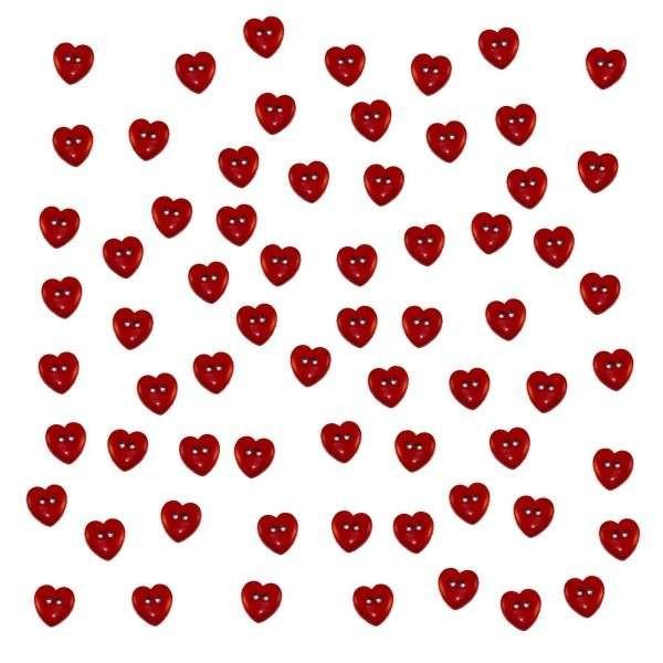 Dress it up Mini Knöpfe, Red Hearts