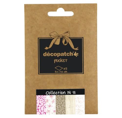 décopatch Papier, collection No.11, 30x40cm, 5 Blatt