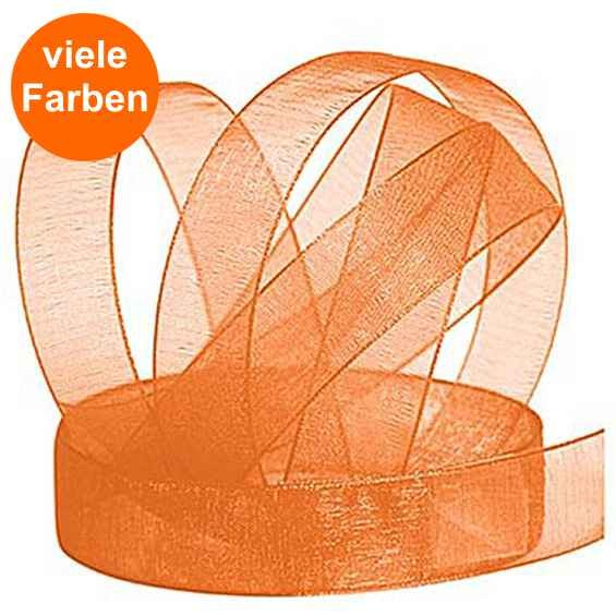 Chiffonband Uni Ø 15mm mit Webkante, 10m