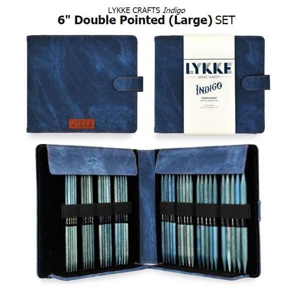 LYKKE INDIGO Stricknadel-Set 6 inch strumpfstricknadeln large Stricknadel Holzstricknadeln