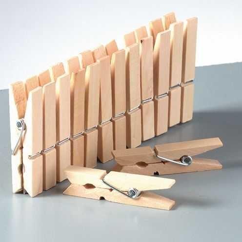 Mini Holzklammern roh, 30 x 7,5 x 4mm, 25 Stück