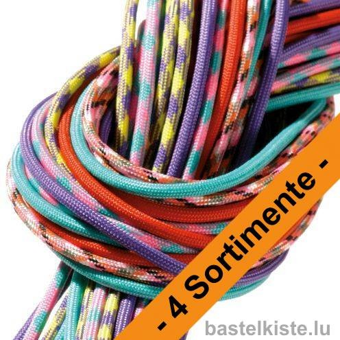 Paracord-Set, Sortimente