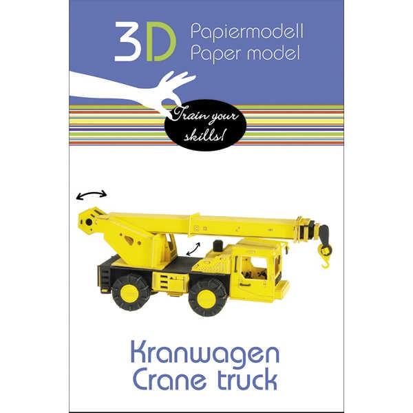 "3D Papiermodell ""Kranwagen"" zum zusammenbauen"