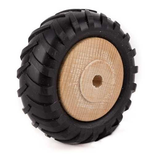 Traktor Holzrad mit Profilgummi Ø 80mm
