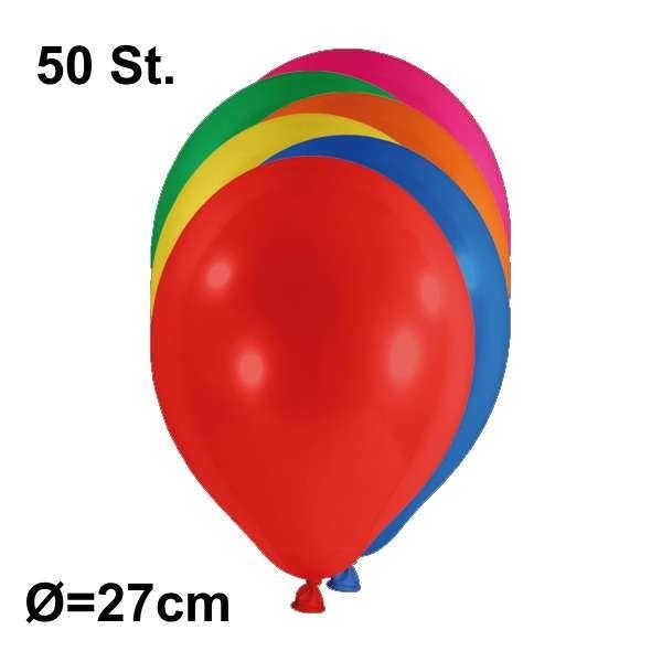 Luftballon Ø 27cm Farbe bunt sortiert, 50 Stück