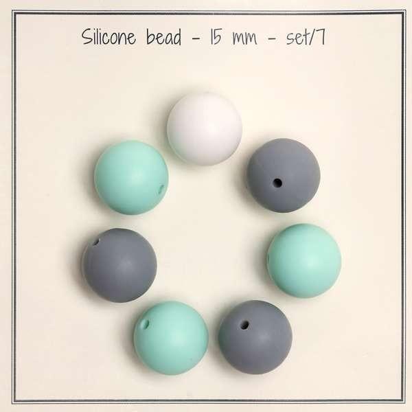 Silikon Perlen (beats) für Schnullerkette & Co