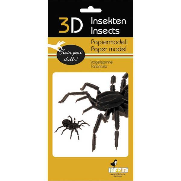 """3D Papiermodell """"Vogelspinne"""" zum zusammenbauen"""