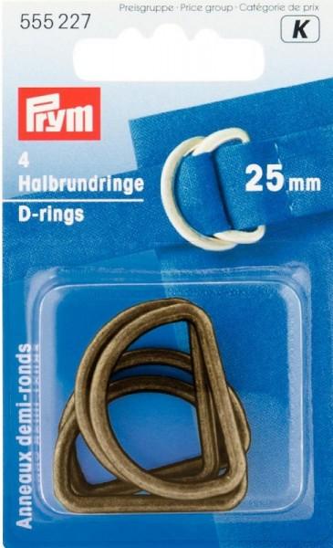 Habrundringe, D-Ringe 25mm altgold PRYM 555227