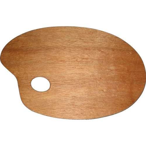 Mischpalette oval aus Holz, 20x30 cm