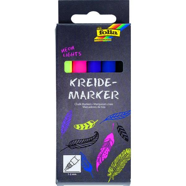 Kreidemarker, Kreidestifte, Chalk Markers 5er Set ►NEON LIGHTS◄