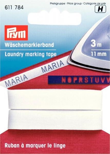 Wäschemarkierband weiß 11mm, 3m lang prym 611784