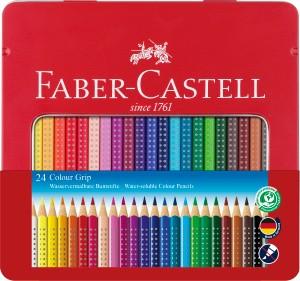 Colour Grip, 24er Set im Metalletui - Wasservermalbare Buntstifte