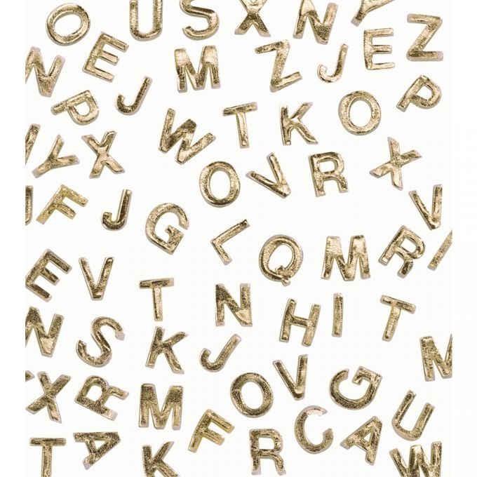 Wachsbuchstaben A-Z, GOLD Ø 9 mm, 2 Stück