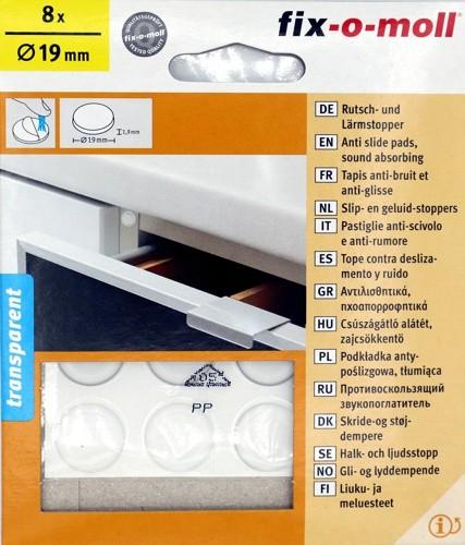 Rutsch- und Lärmstopper 8x Ø19mm Transparent