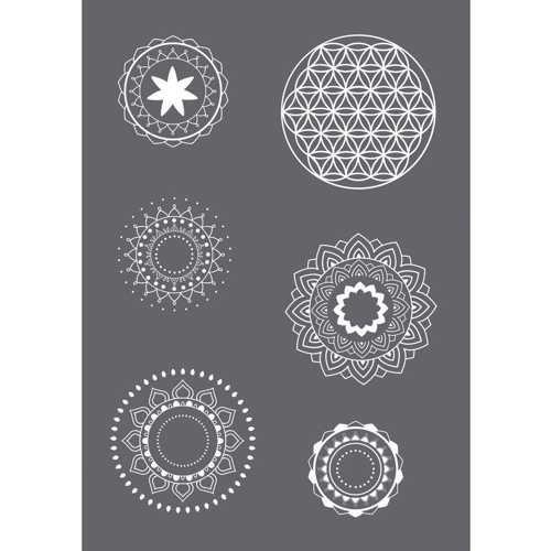 Siebdruck Schablone DIN A5 Mandala