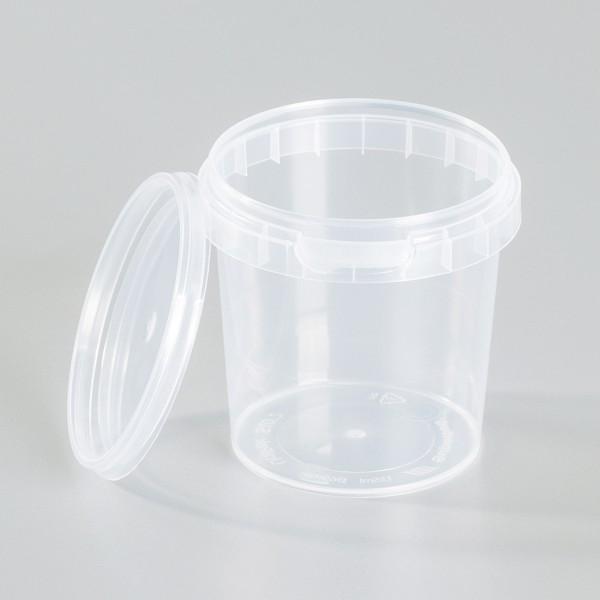 Leerdose transparent (PP) 155ml mit Deckel
