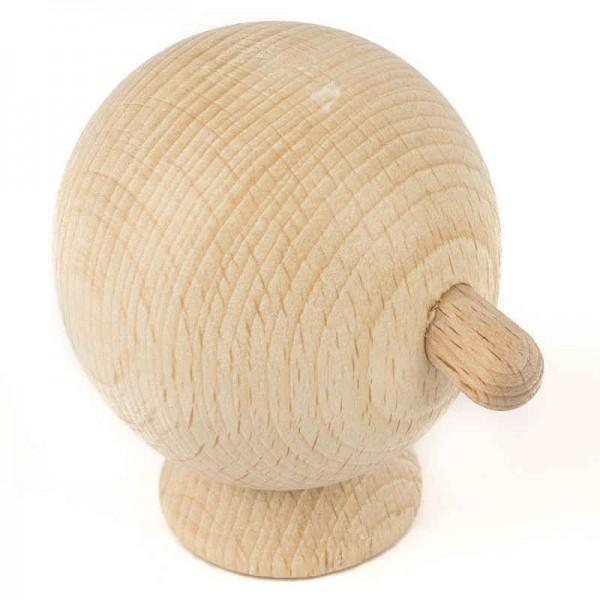 Holzkopf RUND für Puppen, Marionette