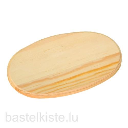 Holzbrettchen oval 13 x 19 cm aus Kiefernholz