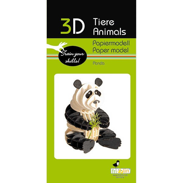 """3D Papiermodell """"Panda"""" zum zusammenbauen"""