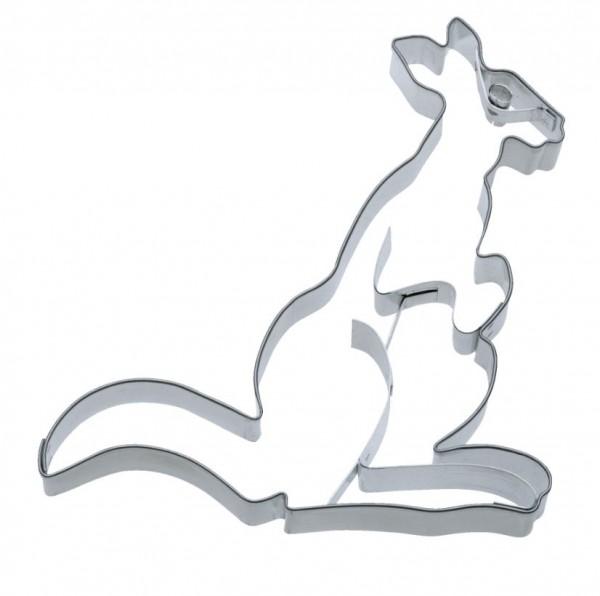 Präge-Ausstechform Känguru 11 cm aus Edelstahl