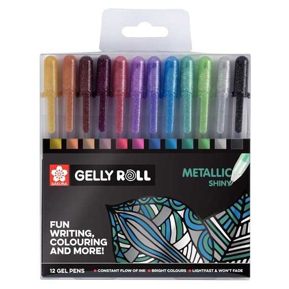 Gelly Roll Gelstifte, 12-teiliges Set METALLIC