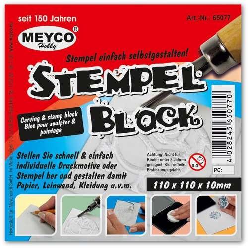 Stempelblock 11x11cm - Stempel selber machen