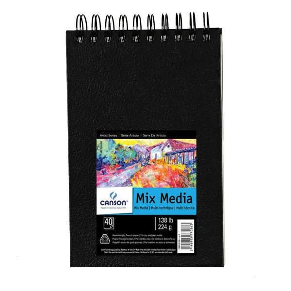 Skizzenbuch Mix Media Spiralbindung 224g/m², 40 Blatt