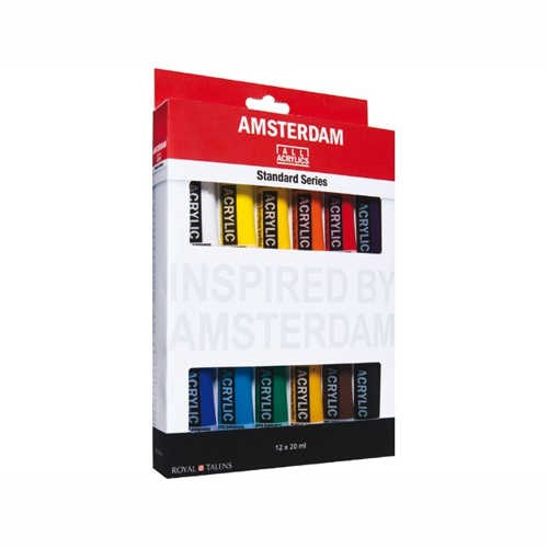 Amsterdam Acrylfarben Set 12 x 20 ml, General Selection
